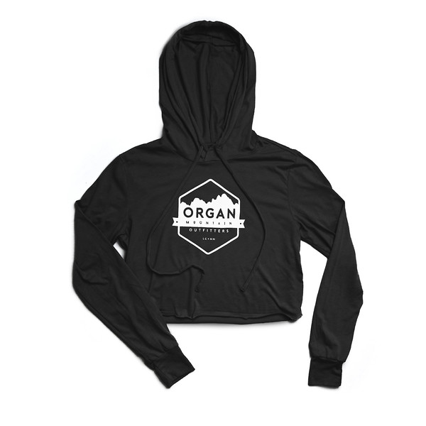 Organ Mountain Outfitters - Outdoor Apparel - Womens - Classic Cropped Tri-Blend Hoodie - Black.jpg