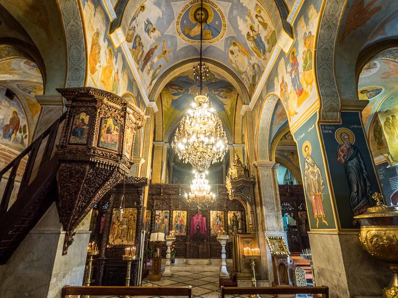 Inside the Greek Orthodox Church, Nazareth, Israel