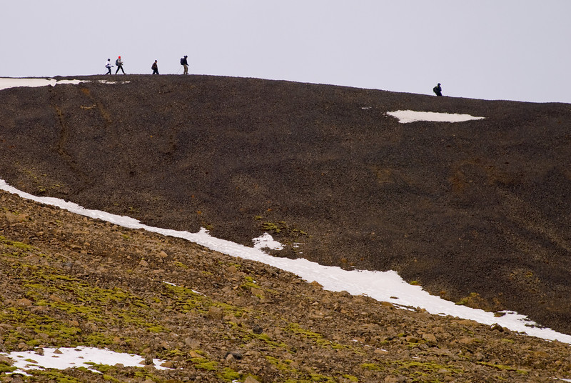 Hópurinn á niðurleið