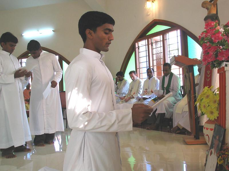 Bala Raju makes his first vows.