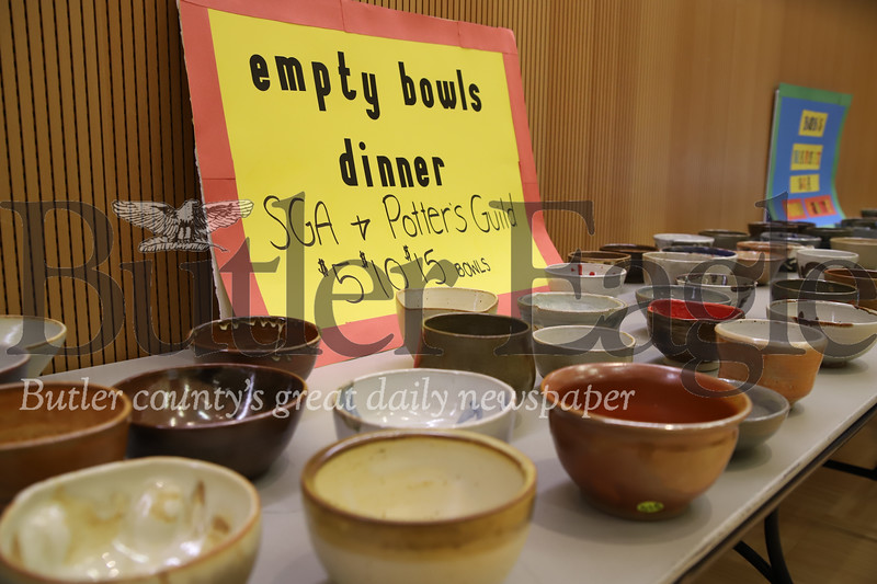 Slippery Rock University's Student Government Association raised around $900 in sales of bowls crafted by members of Slipper Rock University Potter's Guild. The event promotes awareness of food insecurity issues facing many Americans.