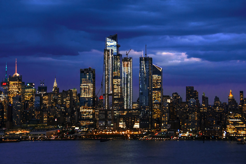 NY Skyline NIghtfall Blues