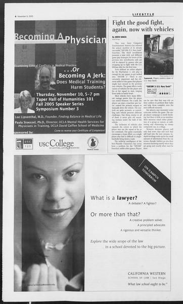Daily Trojan, Vol. 156, No. 56, November 09, 2005