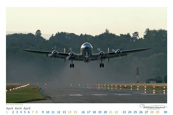 Super Constellation Flyers - Calendar Apr 2007