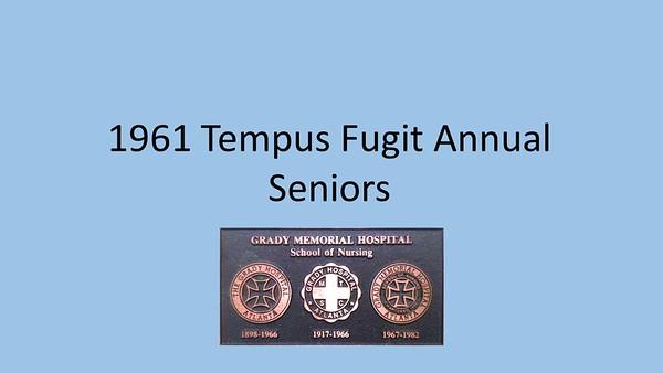 1961 Tempus Fugit Yearbook