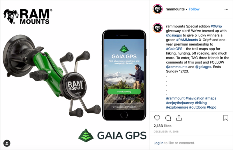 Ram Mounts - GAIA GPS Collaboritve Instagram Campaign