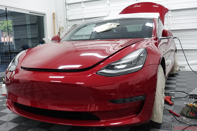 Tesla Model 3 - Red Multi-Coat