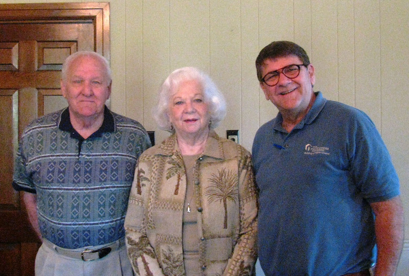 Greenwood Leflore Fuller Center - Rocky and Elizabeth Powers (left & center) with Glen Barton. Elizabeth is a charter member of the board.  Rocky became a full time volunteer when he retired about a dozen years ago.   Elizabeth and Rocky are in their 80s and will soon celebrate their 57th wedding anniversary.  Together they and the board are doing a great job in family selection and family partnering. Brenda Barton