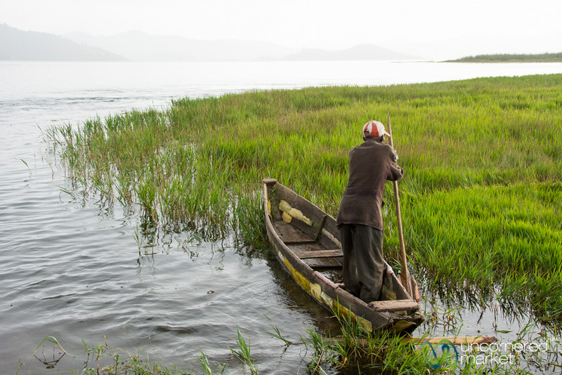 Fisherman Leaves for Day on Lake Ruhondo - Rwanda