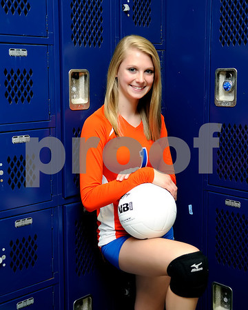 Marshall County High School 2012 Volleyball Senior Players, August 15, 2012.