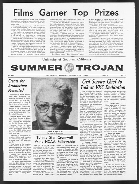 Summer Trojan, Vol. 17, No. 8, July 19, 1966