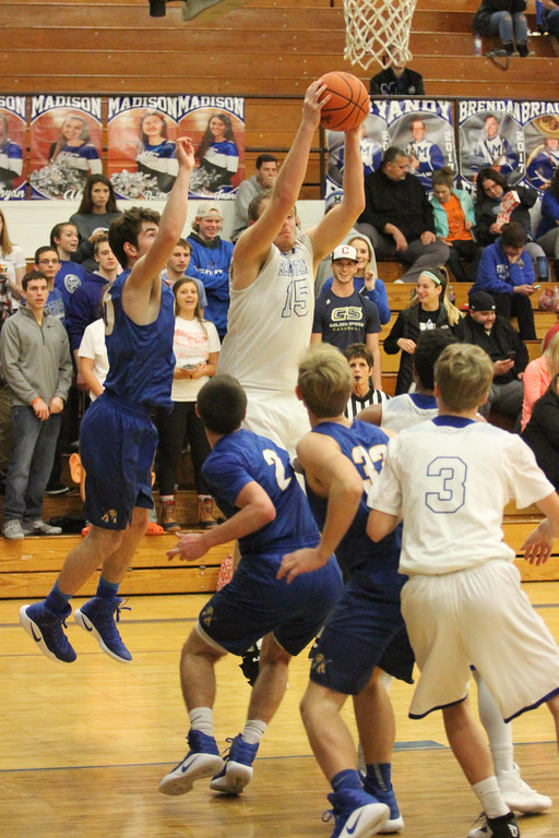 . Barry Booher - The News-Herald Action from the Madison-NDCL boys basketball game Jan. 3
