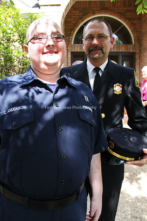 Cooper Anderson becomes Honorary Plano Firefighter