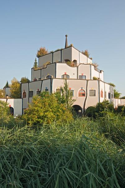 Gesundheistzentrum at Hot Springs Complex Designed by Friedensreich Hundertwasser, Bad Blumau, Styria, Austria
