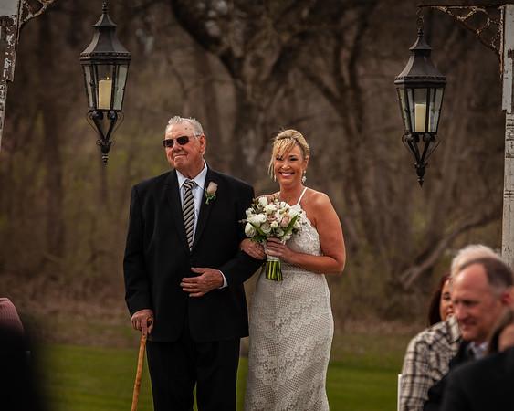 Salmon Wedding Day Ceremony