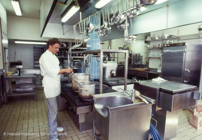 Kjøkkene på Grand Royal Hotell.