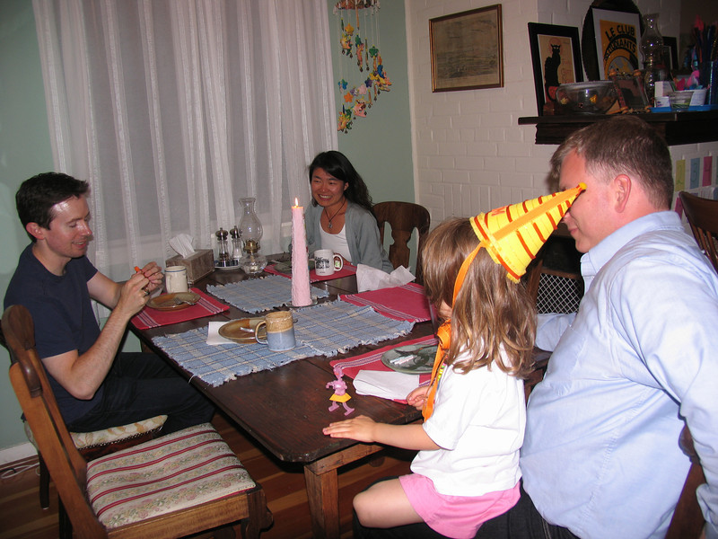 Cake with Uncle John & Aunt Rika