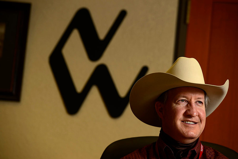. National Western Stock Show CEO Paul Andrews speaks about the changes to this year\'s show at the complex on Wednesday, January 9, 2012. AAron Ontiveroz, The Denver Post