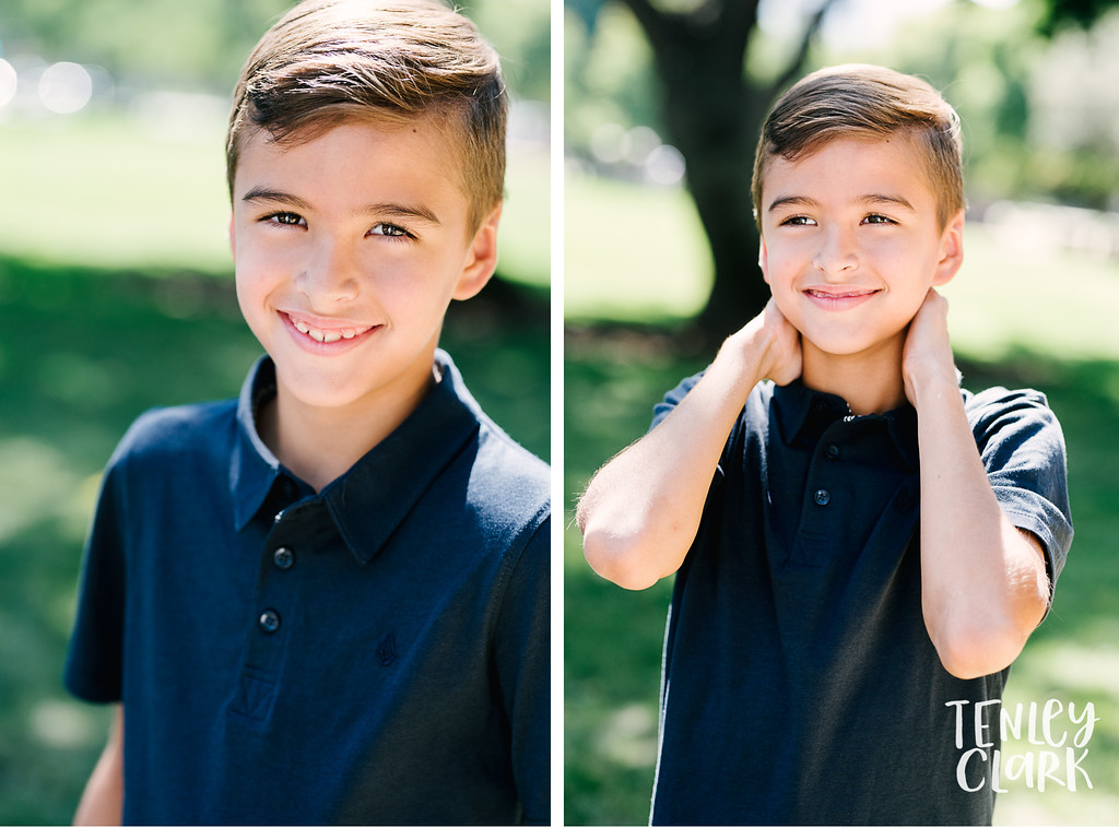 Downtown Pleasanton, CA kids model headshots for JE Model by Tenley Clark Photography. Ty park.