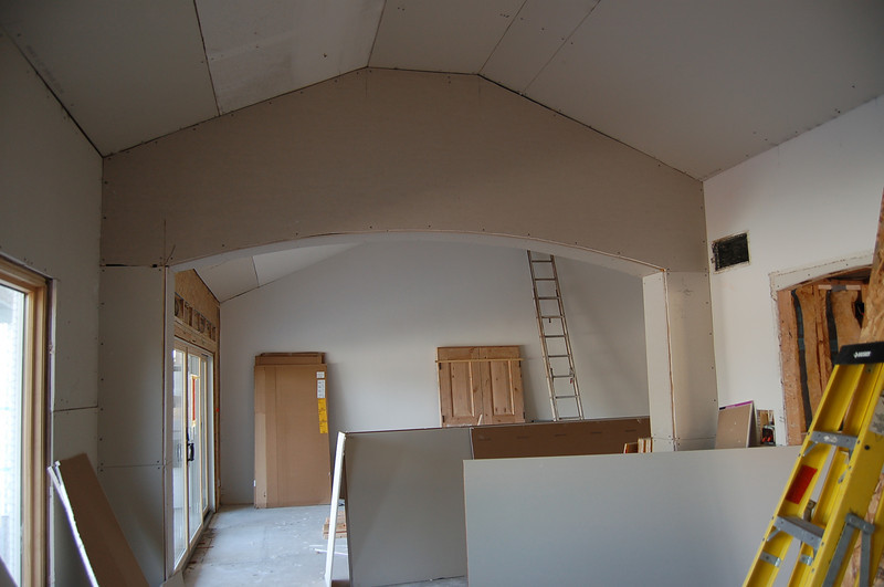 Looking from the dining room into the living room.