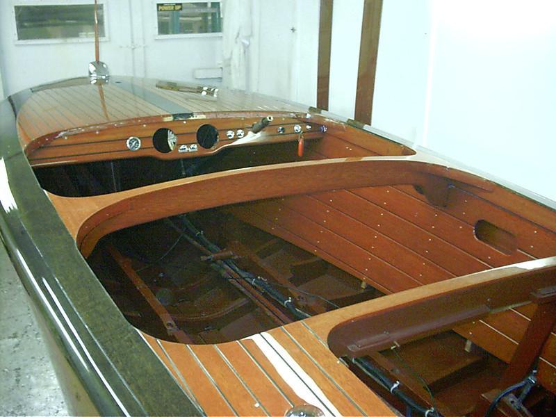 Starboard cockpit liner installed.