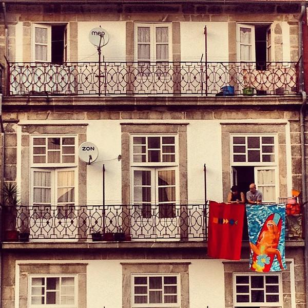An old town balcony hangout, Porto #tbupor #spotthenude