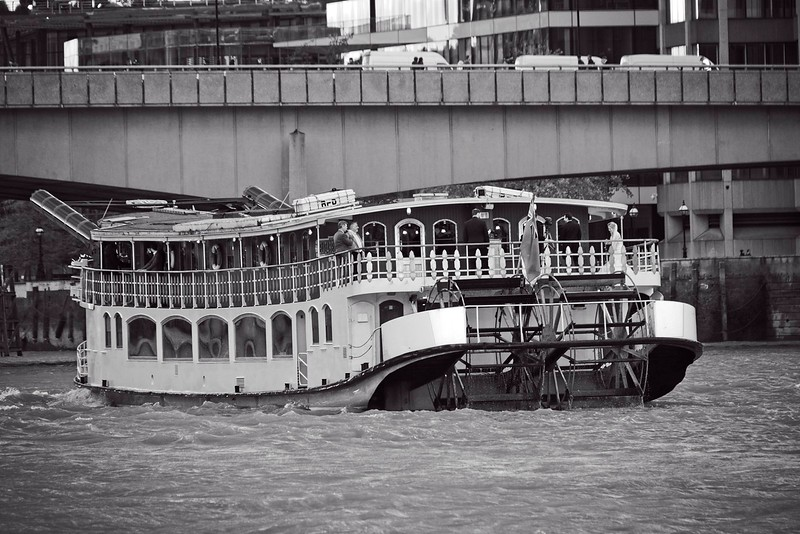 Paddle boat on the Thames
