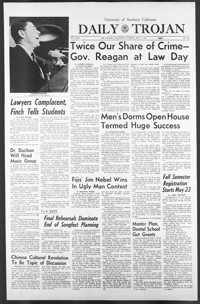 Daily Trojan, Vol. 58, No. 115, May 02, 1967