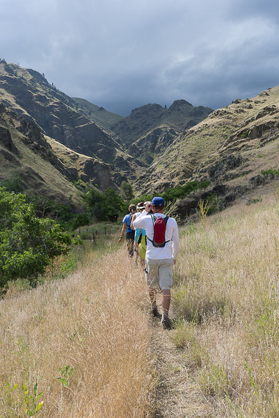 On day 2, this optional hike at Two Corral Creek was steep and narrow.