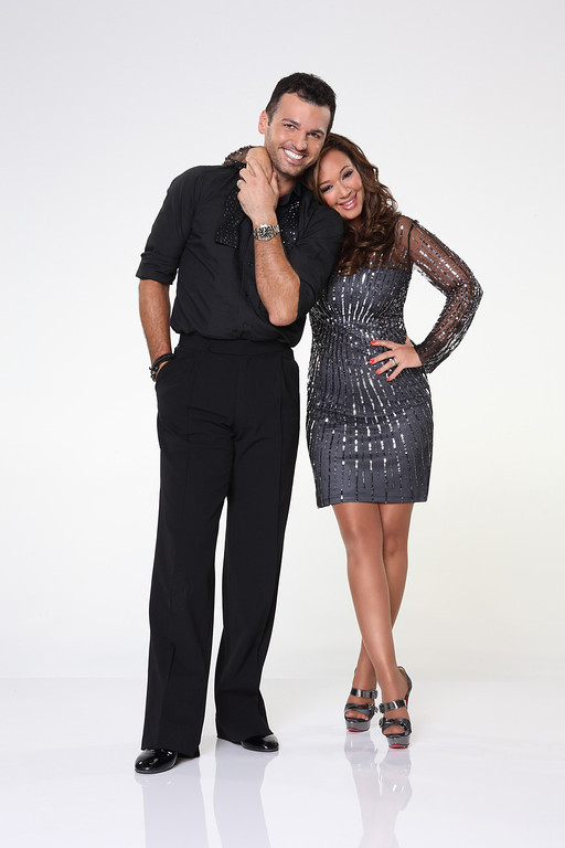 """. DANCING WITH THE STARS - TONY DOVOLANI & LEAH REMINI - Leah Remini partners with Tony Dovolani. \""""Dancing with the Stars\"""" returns for Season 17 on MONDAY, SEPTEMBER 16 (8:00-10:01 p.m., ET), on the ABC Television Network. (ABC/Craig Sjodin)"""