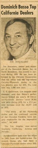 1977, Top LA Dealer