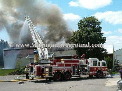 7/23/04 - Delhi Twp barn fire, 2611 Okemos Rd