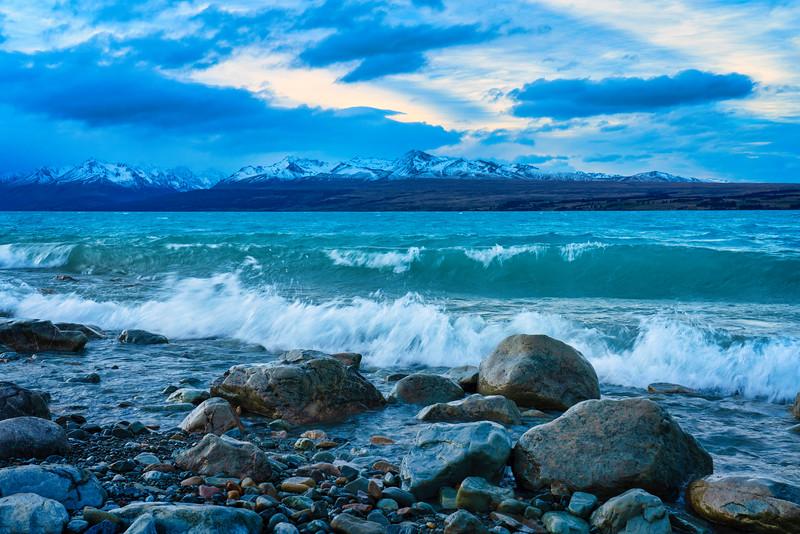 Lake Pukaki Waves