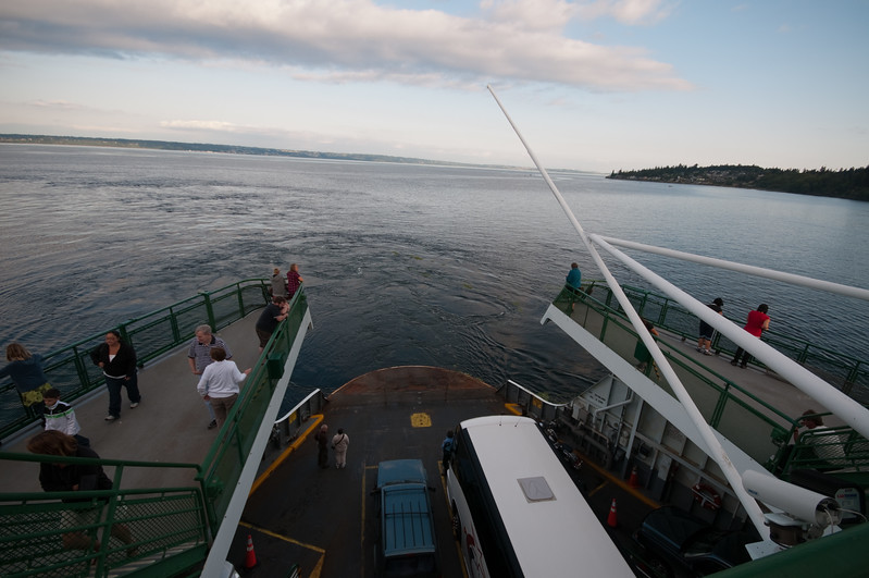 On another ferry - this one across Puget Sound.