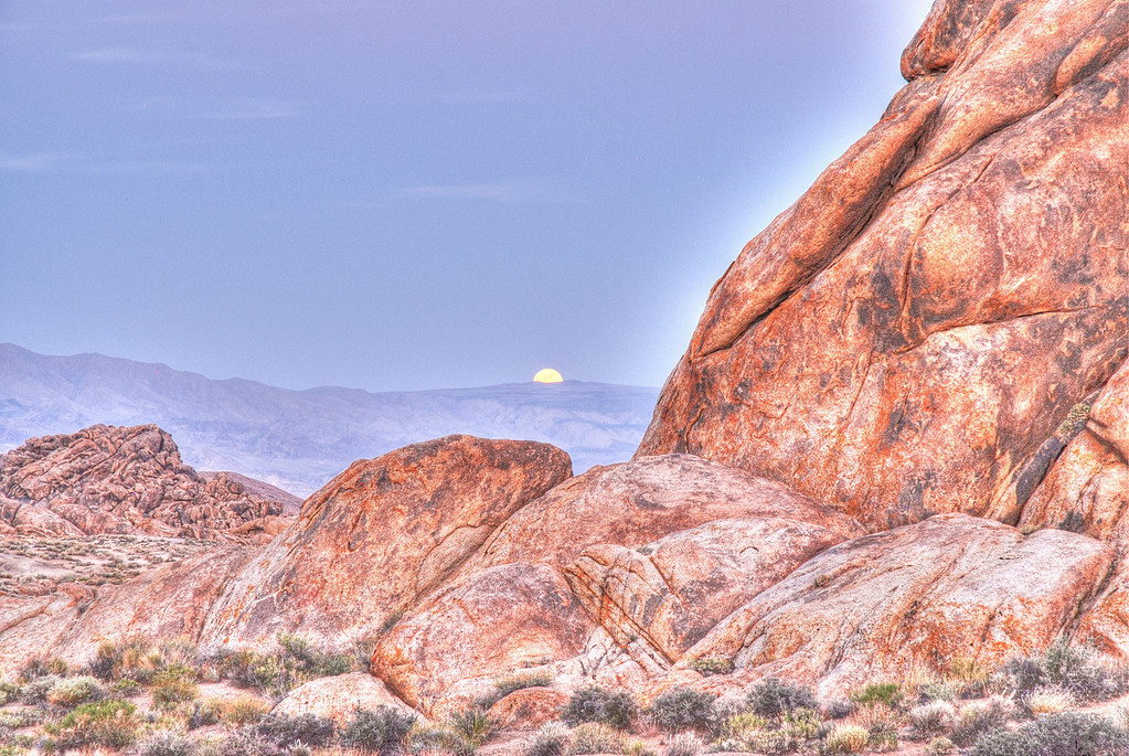 Alabama Hills Moon Rise