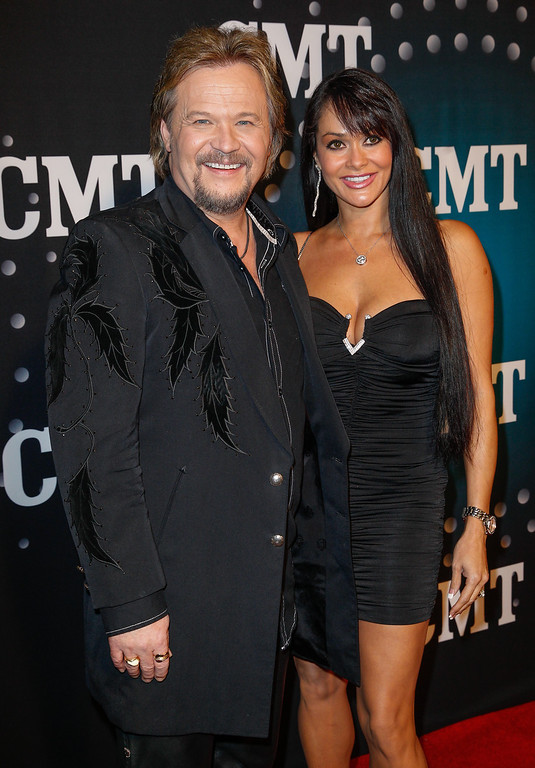 . Travis Tritt and wife Theresa Nelson attend CMT Artists Of The Year 2013 on December 3, 2013 in Nashville, Tennessee.  (Photo by Terry Wyatt/Getty Images)