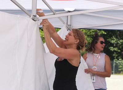 Emergency medical tent setup practice 062421
