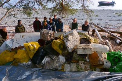 Volunteers Behind the Growing Pile of Marine Debris April 2013, Cynthia Meyer, Chichagof Island, Alaska