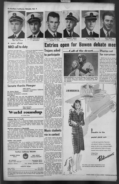 The Trojan, Vol. 35, No. 81, February 04, 1944