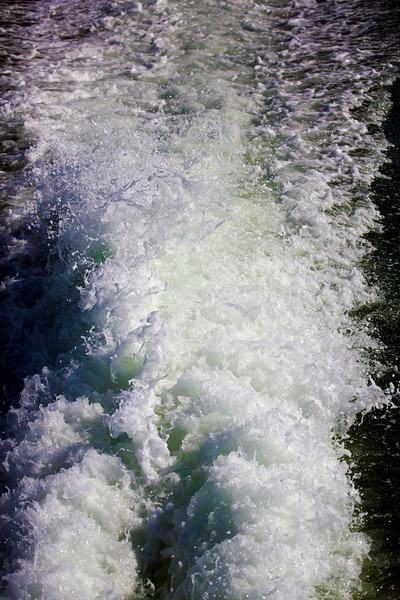 The wake of skimmer, at 1/8000th of a second.