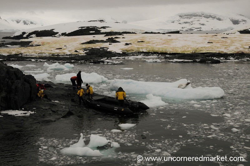 Zodiac Landing on Detaille Island - Antarctica