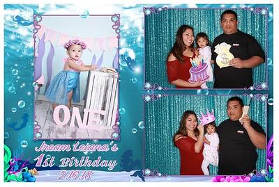 jream leiana's 1st Birthday
