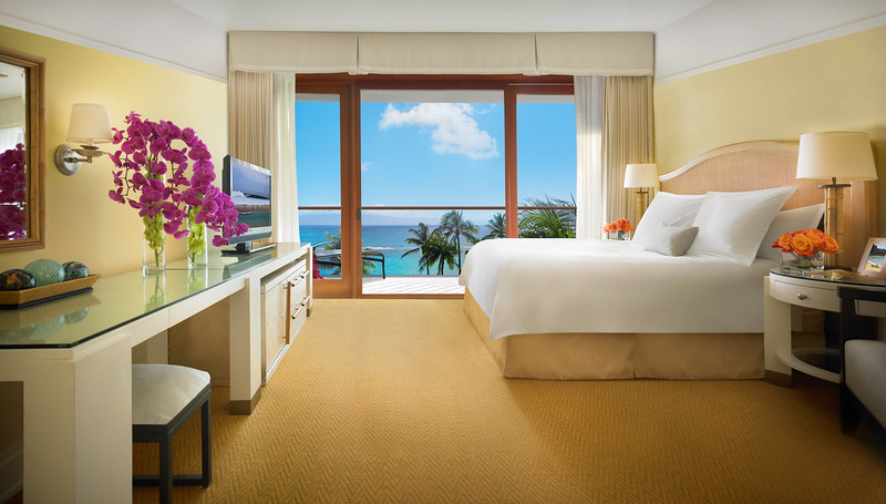 Bedroom overlooking the Pacific Ocean.