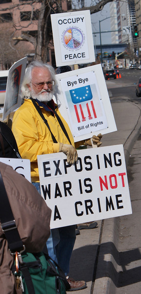 """""""Free Bradley Manning"""" Demonstration - Denver - 2/23/13"""