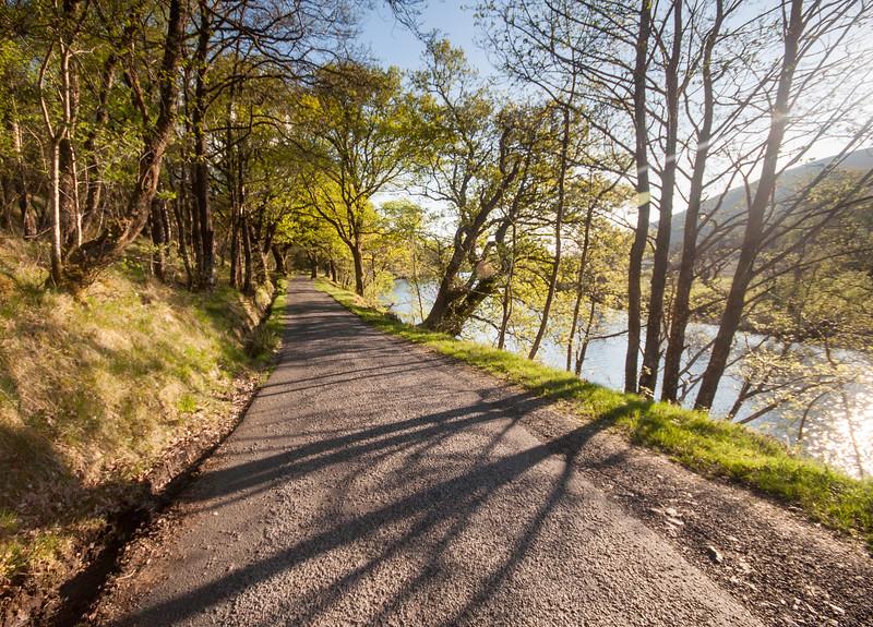 Highland lane through Glen Orchy