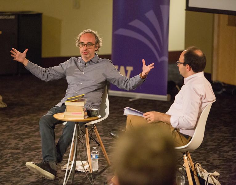 2018 Stroum Lecture with Gary Shteyngart in conversation with Sasha Senderovich. University of Washington