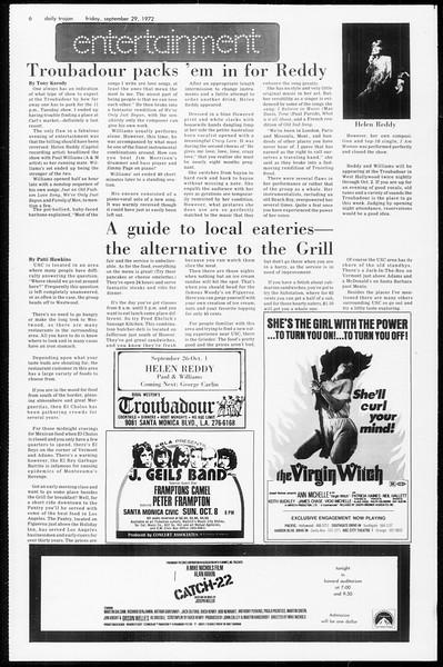 Daily Trojan, Vol. 65, No. 10, September 29, 1972