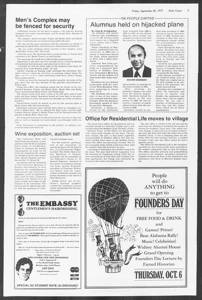 Daily Trojan, Vol. 72, No. 10, September 30, 1977