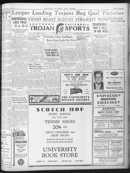 Daily Trojan, Vol. 23, No. 122, April 11, 1932