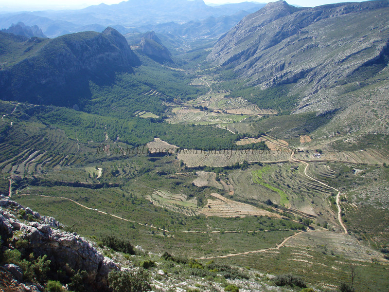 Looking down to Sella from Peyo Roc